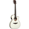 LAG T118SASCE IVO Auditorium Slim Body Ivory Solid Top Red Cedar Electro Cutaway Acoustic Guitar