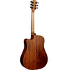 LAG T170DCE Dreadnought Red Cedar Natural Cutaway Electro Acoustic Guitar