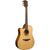 LAG TL118DCE Dreadnought Left Handed Natural Solid Top Red Cedar Electro Cutaway Acoustic Guitar