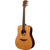 LAG TL118D Dreadnought Left Handed Natural Solid Top Red Cedar Acoustic Guitar