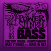 Ernieball Nickel Roundwound Bass Strings Slinky Power 55-110