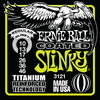 Ernie Ball Coated Slinky Titanium Wound Guitar Stings Regular 10 - 46