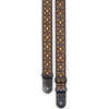 Stagg Guitar Strap Nylon Flower Pattern Orange SWO-FLO ORN