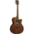 LAG T98ACE Auditorium Natural Solid Khaya Cutaway Electro Acoustic Guitar