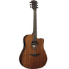 LAG T98DCE Dreadnought Natural Solid Khaya Cutaway Electro Acoustic Guitar