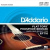 D'Addario EFT16 Flat Tops Phosphor Guitar Strings 12 - 53
