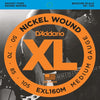 D'Addario XL Nickel Round Wound Bass Strings EXL160M Medium 50 - 105