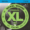 D'Addario XL Nickel Round Wound Bass Strings EXL165 Long 45 - 105