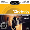 D'Addario EXP14 Coated Acoustic Guitar Strings  12 - 56 EXP 80/20 Bronze