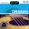 D'Addario EXP16 Coated Phosphor Acoustic Guitar Strings  12 - 53 EXP