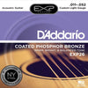 D'Addario EXP26 Coated Phosphor Acoustic Guitar Strings  11 - 52 EXP