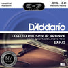 D'Addario Mandolin Strings EXP75 Mandolin/EXP Coated Bronze - Medium/Heavy