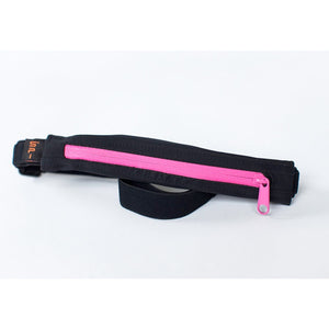 SPIbelt Original Belt Black w/ Hot Pink Zip