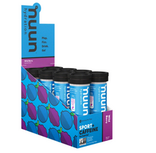 Load image into Gallery viewer, Nuun Sport + Caffeine Hydration Box of 8 tubes