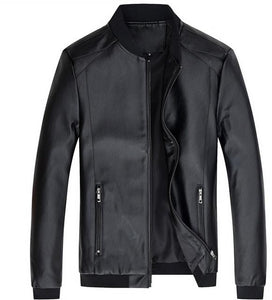 Men's PU Jacket Outerwear Leather Coat Spring Slim Fit Faux Leather Mo –  PaKuTin