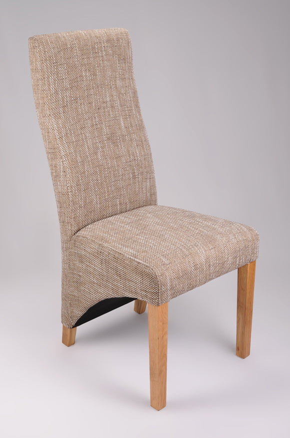 Linen Fabric Dining Chair Various Colours