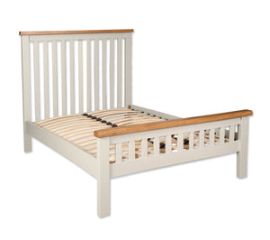 Canberra Painted Double Bed Frame - Ivory