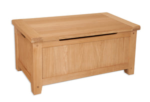 Canberra Oak Blanket Box - Natural Finish