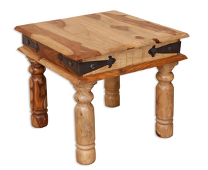 Jali Indian Rosewood Square Coffee Table - 45x45cm