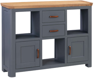 Crescent Oak Low Display Unit - Midnight Blue