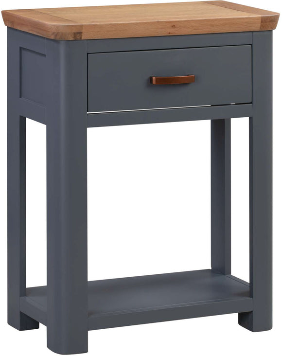 Crescent Oak Small Console Table - Midnight Blue