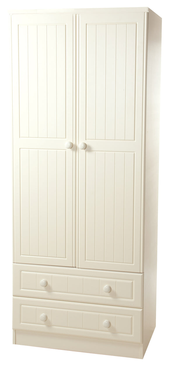 Warwick Double Wardrobe with 2 Drawers