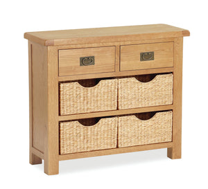 Manor Oak Small Sideboard with Baskets