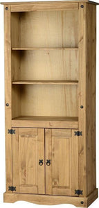 Corona Mexican Pine   Large Cupboard Bookcase
