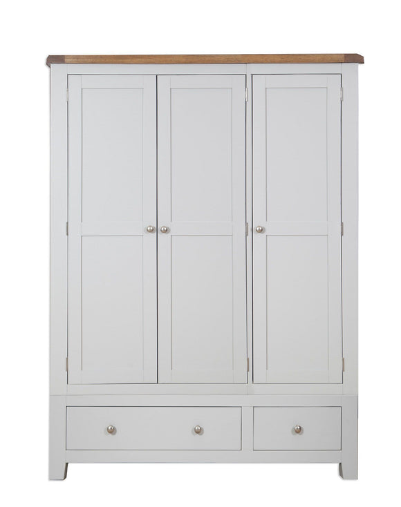 Canberra Painted    Triple Wardrobe - Grey