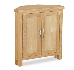 Milan Oak Corner Cupboard
