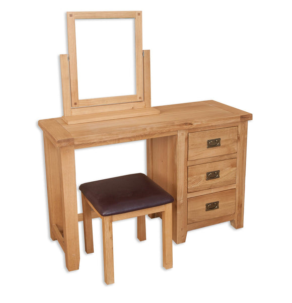 Canberra Oak Dressing Table - Natural Finish