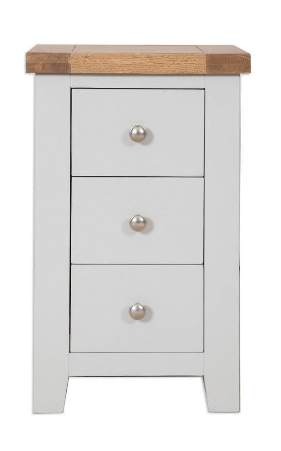 Canberra Painted      Bedside Cabinet -Grey