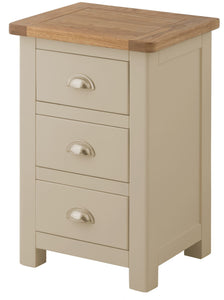 Oregon Oak Bedside Cabinet - Pebble