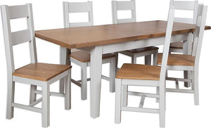 Canberra Painted Large Extending Table - Grey