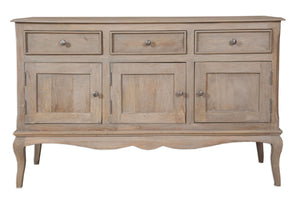 Bordeaux Grey Shabby Chic Large Sideboard