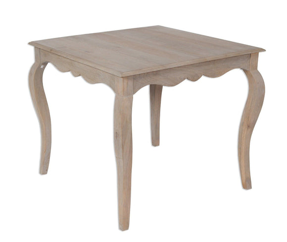 Bordeaux Grey Shabby Chic  Dining Table - Square (90cm)