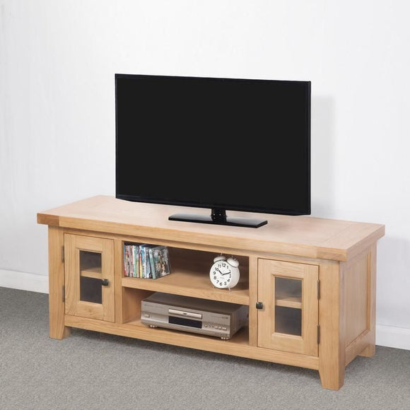 Devonshire Oak  Large TV Unit