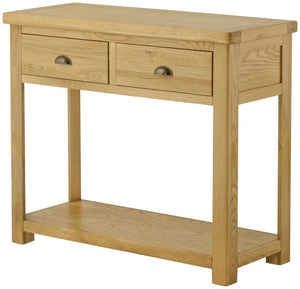 Oregon Oak 2 Drawer Console Table - Oak