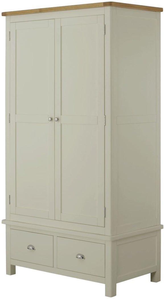 Oregon Oak Gents Wardrobe - Stone