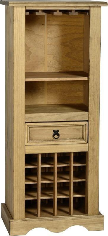 Corona Mexican Pine   Wine Rack