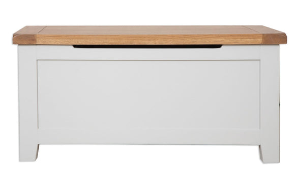 Canberra Painted      Blanket Box -Grey