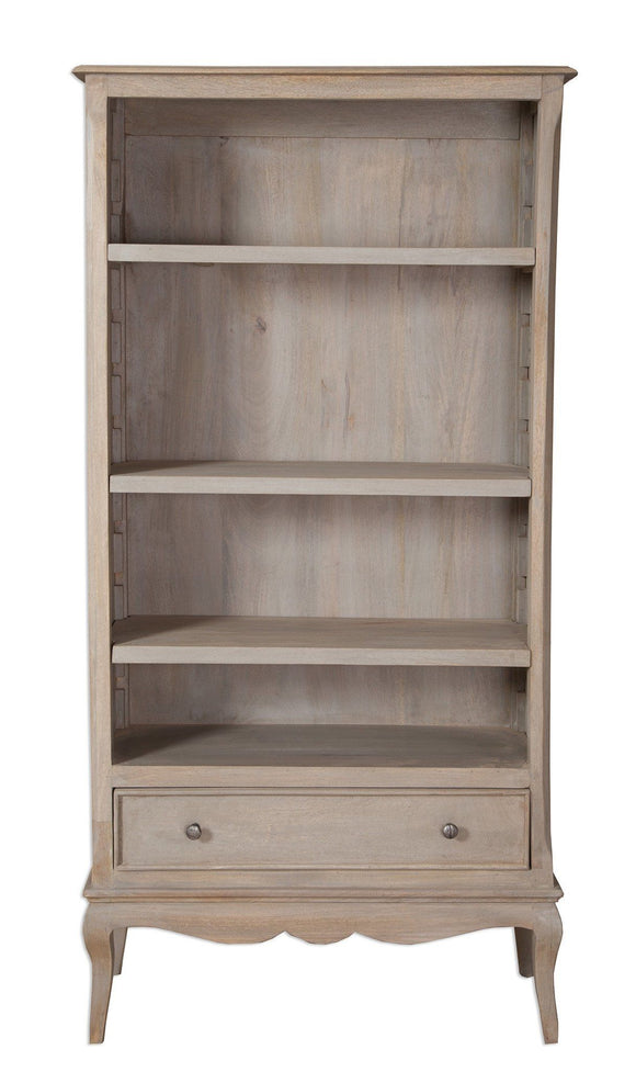 Bordeaux Grey Shabby Chic  Tall Wide Bookcase