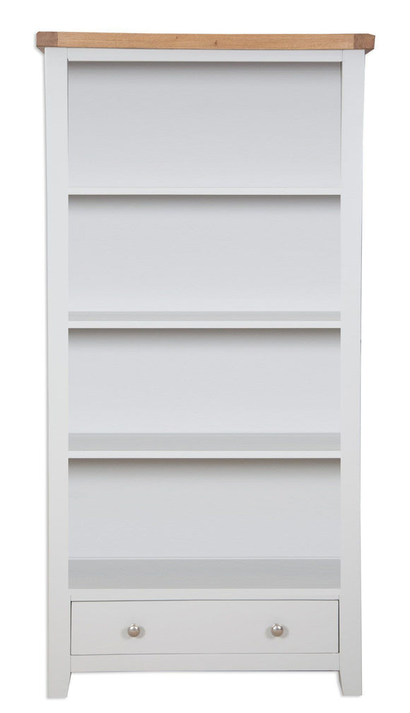 Canberra Painted    Tall Wide Bookcase - Grey