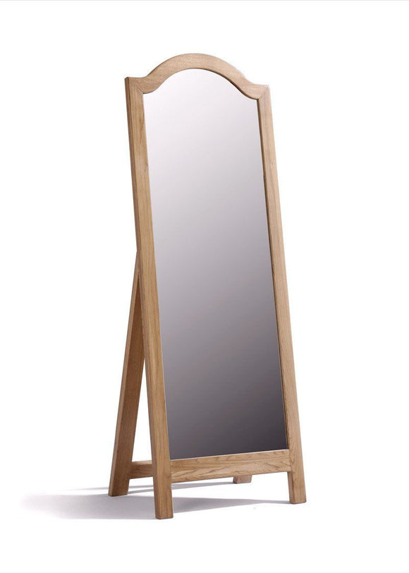 Regency Oak  Cheval Mirror