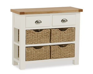 Somerset Console Table With Baskets