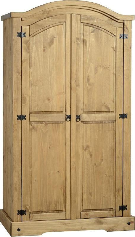 Corona Mexican Pine   Double Full Hanging Wardrobe