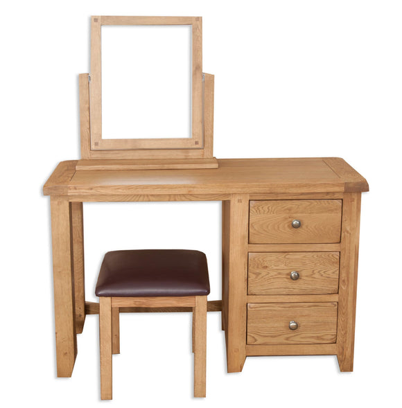 Canberra Oak Dressing Table - Rustic Finish