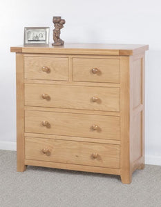 Devonshire Oak 3+2 Chest of Drawers
