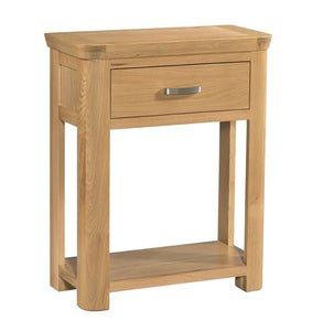 Crescent Oak Small Console Table - Oak