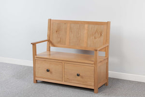 Devonshire Oak Monks Bench